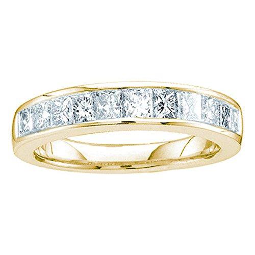 Jewels By Lux Alianza de boda de oro amarillo de 14 quilates para mujer, diseño de...