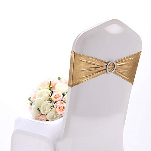 Namvo 10 lazos elásticos para silla, con hebilla de elastano, elásticos, para bodas,...