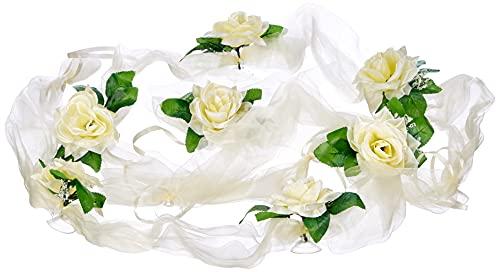 Organza M Auto Joyas Novia par Rose decoración Organza M Boda Coche Wedding Deko...