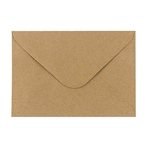 Sobres de papel de estraza, 100 unidades, alta calidad, Sobres de 110 g/m² para tarjetas...