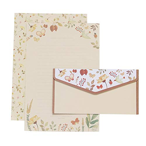 Skyeye. 9 Pcs / 1 Juego De Lindas Tarjetas De Agradecimiento Retro Sobres Florales Dulces...