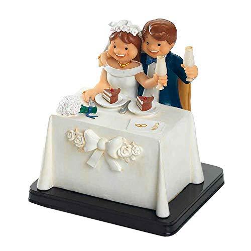 Muñeco para la tarta Figura tarta boda. Original figura para la tarta novios en mesa...