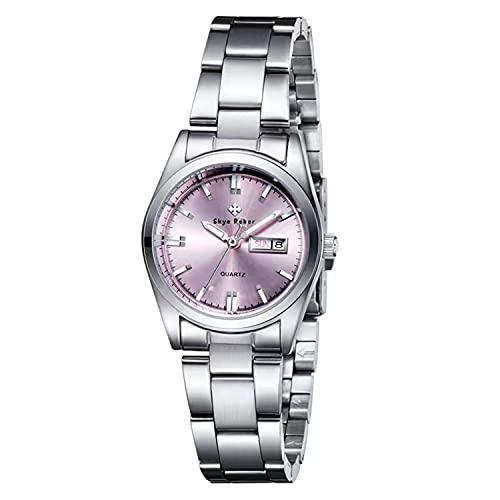 Relojes de mujer Moda Casual Marca de negocios de lujo para mujer Banda de acero...