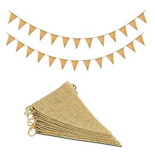 11M/48 Pcs Banderas Triangulares, ideal para Decoración de fiestas de Cumpleaños,...
