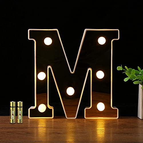 Letras Iniciales para Boda LED 16 cm