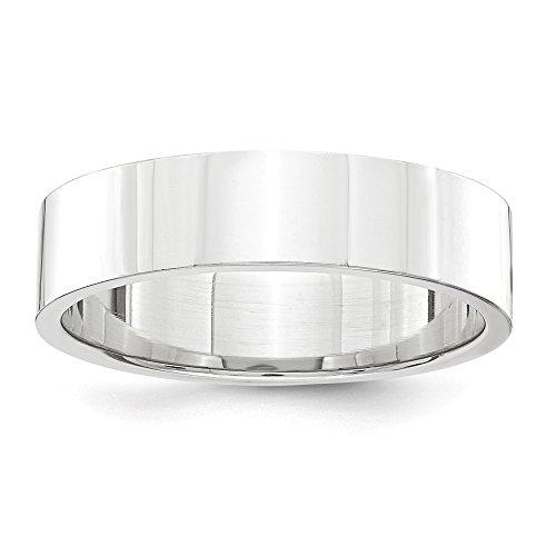 DIAMOND2DEAL INC Platinum - Alianza de Boda Plana de 5 mm, tamaño 11