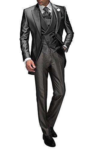 Suit Me Tailored - Traje para hombre de 3 piezas para bodas, fiestas, eventos, con chaleco...
