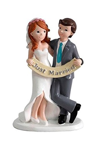 DISOK - Figura Pastel Just Married Recién Casados Figuras para el Pastel, Tartas Nupcial...