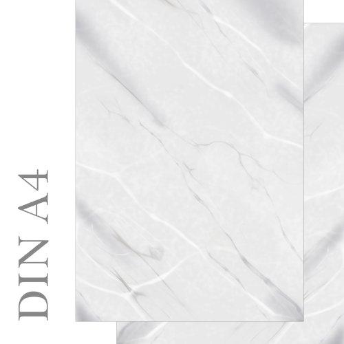 Papel de carta con diseño de mármol gris y blanco impreso por ambos lados, 50 hojas, DIN...