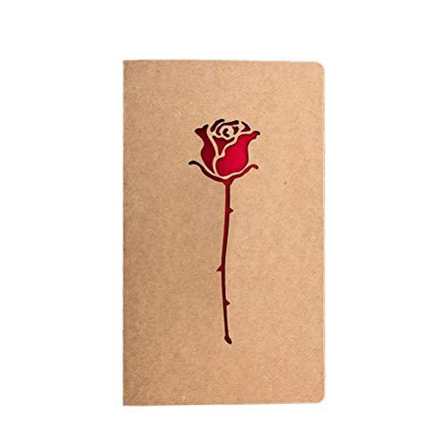 Amosfun Tarjeta de felicitación creativa de papel kraft vintage cortada con láser,...