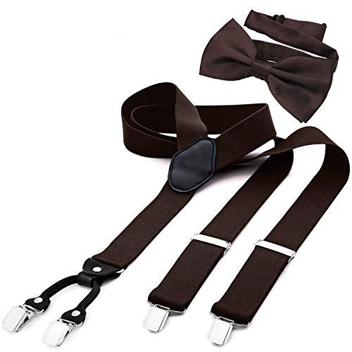 DonDon Tirantes para hombres ancho 3,5 cm en forma de Y, elásticos y ajustables en...