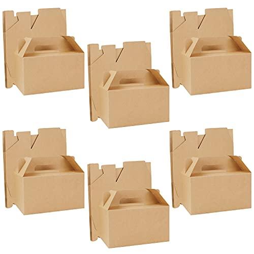 Belle Vous Caja de Chuches para Regalar Marrón (Pack de 24) 16 x 9 x 9 cm - Caja Kraft...