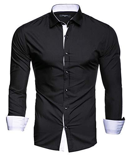 Kayhan Hombre Camisa, TwoFace Black S