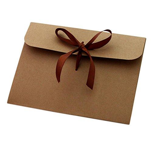 Cosanter 100 sobres de papel de estraza 17,3 x 12,5 cm, sobres para bodas, cumpleaños,...