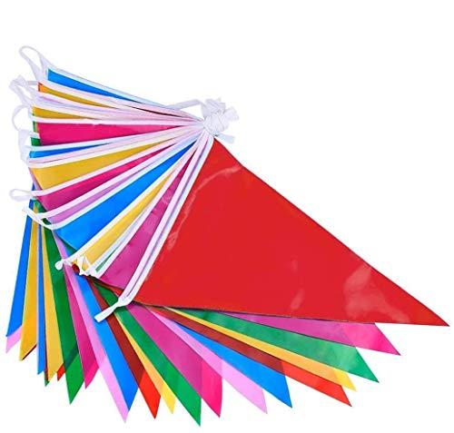 DoGeek Banderines Fiesta Multicolor Banderines de Tela Banderines Cumpleaños Banderines...