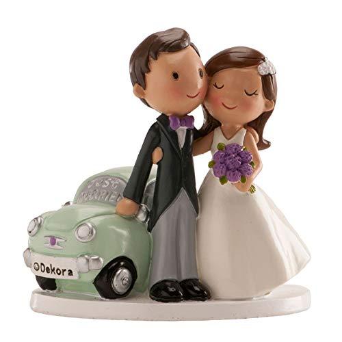Figura boda PERSONALIZADA novios muñecos coche tarta figuras GRABADAS