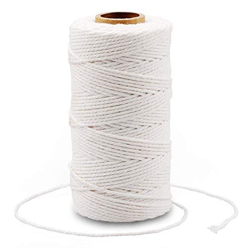 G2PLUS 100M Cuerda de Algodón,Macrame Cuerda de Algodón Hilo Macrame 2mm Cordel de...
