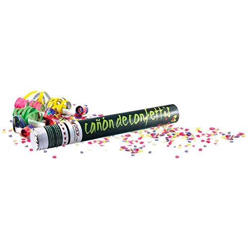 Lote de 20 Cañones Confeti 40 Cm - DISOK - Lanza Confetis Ideal para Fiestas, Bodas y...