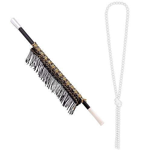 Boland 64345 – Juego de collar y punta de cigarrillo de 31 cm, para adultos, collar de...