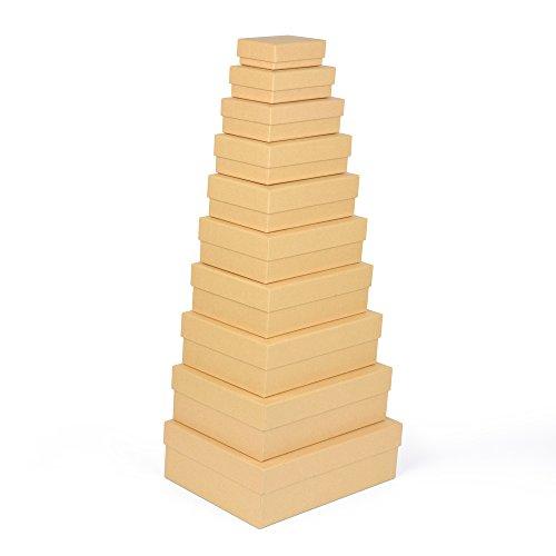 Cajas de regalo, pack de 10unidades, material estable recubierto de fino papel kraft,...