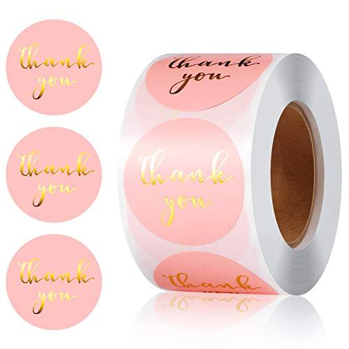 Vintoney - 500 pegatinas de agradecimiento, para manualidades, bolsas de compras, bodas,...