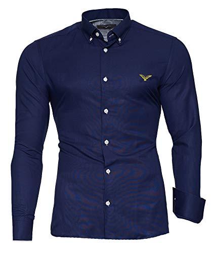 Kayhan Hombre Camisa, Oxford Navy XXL
