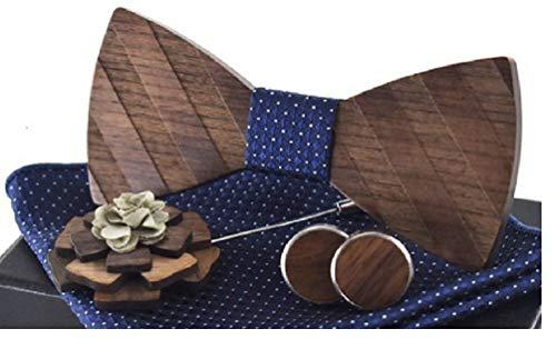 BeForBio - Pajarita de madera hecha a mano, elegante y a la moda, accesorio de moda o idea...