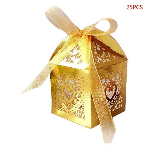Caja de regalo de las cajas del caramelo, cajas del favor de la boda dulce, 25pcs / pack...