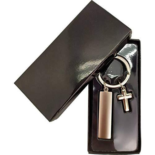 DISOK - Llavero Comunión Cruz en Caja de Regalo - Llaveros para Comuniones