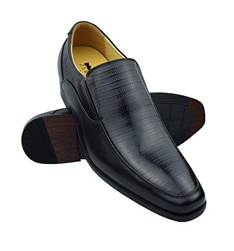 Zerimar Zapatos con Alzas Hombre  Zapatos de Hombre con Alzas Que Aumentan su Altura + 7...