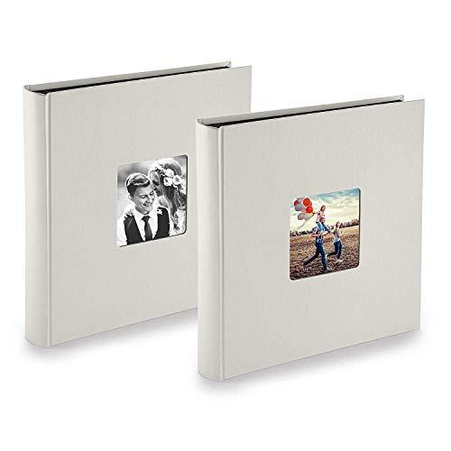 PAZZiMO Álbum de fotos para pegar de color tiza para 400 fotos, álbum de fotos 30x30 cm...