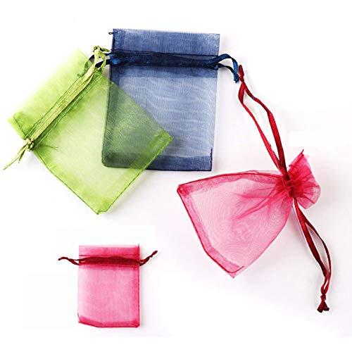 18 piezas de bolsa de organza 10 x 15 cm bolsa de joyería de regalo, 18Colores Bolsas...