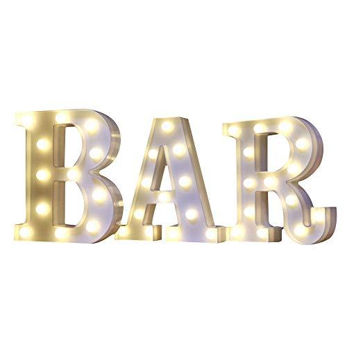 Mystery&Melody LED BAR letra decorativa lámpara luz LED alfabeto blanco sólido letras...