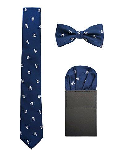 Hombre 6cm Corbata & Pajaritas & Pañuelo de Bolsillo 3 en 1 Set Moda Casual Cool -...