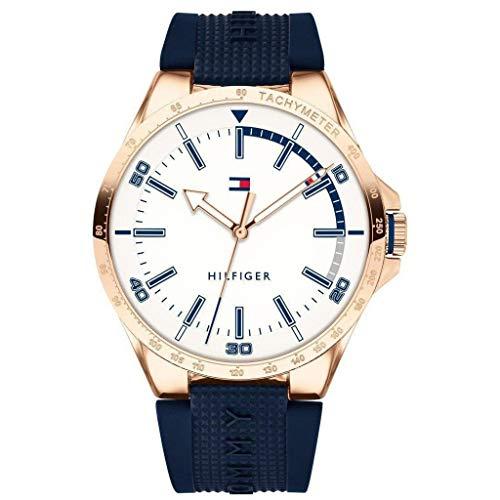 Tommy Hilfiger Reloj Análogo clásico para Hombre de Cuarzo con Correa en Silicona...