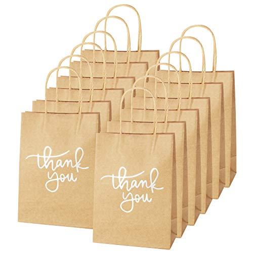 XNX, Bolsas de papel kraft con asa, reciclables, ideales para regalos de cumpleaños,...
