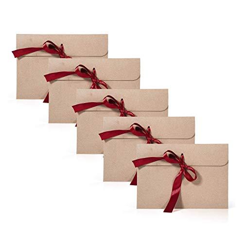 Remebe 30 Piezas Vintage Kraft 30 Piezas Cinta Sobres, Ideal para Sobres de Acción de...