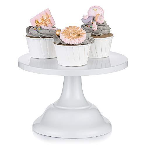 Nuptio Bases para Tartas de Blanco Soporte Cupcakes de Boda 20cm Cake Stand Redondo para...