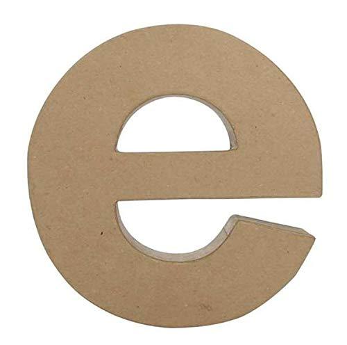 Decopatch Papel maché diseño de Letra e, marrón
