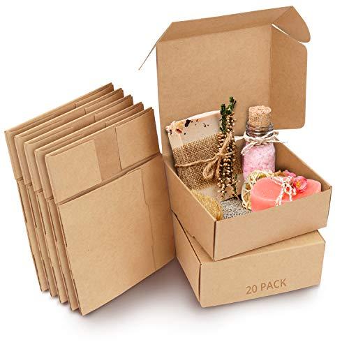 Kurtzy Cajas de Cartón Kraft Marrón (Pack de 20) – Medidas de las Cajas 12 x 12 x 5 cm...