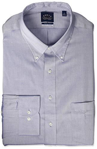 Eagle Hombre 1123205  con botones Manga Larga Camisa de vestir -  Azul -  51 cm Cuello 89...