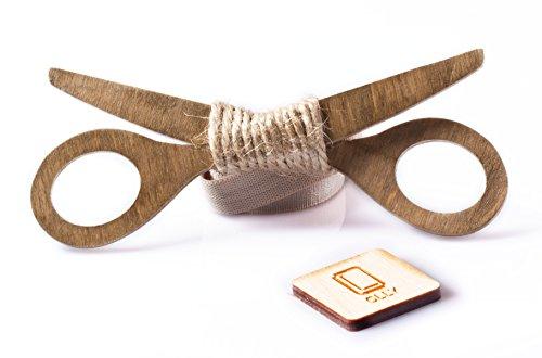 OLLY Scissor Pajarita de madera Hombres