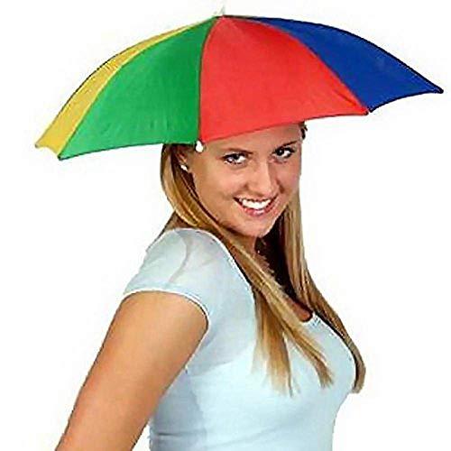 Gorra de sombrilla plegable paraguas - Sombrerería para adultos - Perfecto para el...