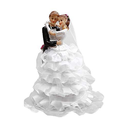 iBaste Figuras decorativas de pareja de novios y novios para tartas, decoración de...