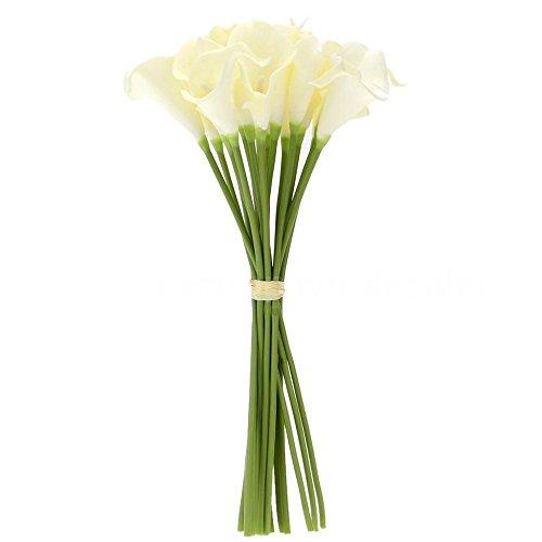 TOOGOO 18X Color de Decoración para El Hogar Real de Flores de Lirio Blanco de Cala...