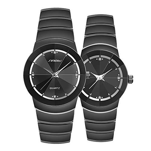 Juego de 2 relojes de pulsera para parejas, con caja de regalo de San Valentín,...