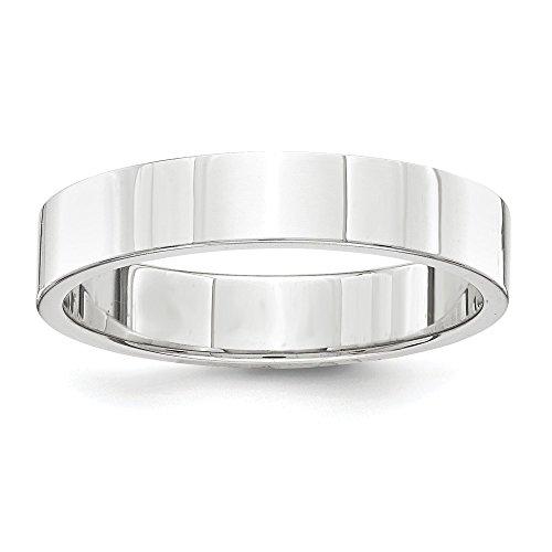 Alianza de boda de platino de 4 mm, tamaño 10