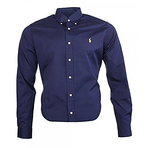 Ralph Lauren Camisa clásica para hombre. azul marino L