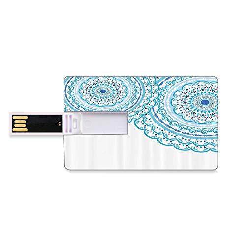 64GB Unidades Flash USB Flash Mandala Forma de Tarjeta de crédito bancaria Clave...