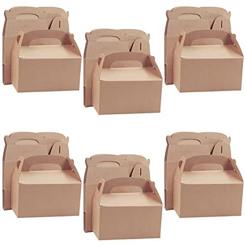 Belle Vous Cajas para Dulces Marrón para Fiestas (Pack de 24) 16 x 9,3 x 8,6 cm –...